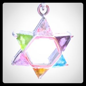 Jewelry - Sterling & CZ Star of David Pendant & Snake Chain.